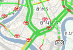 map application traffic